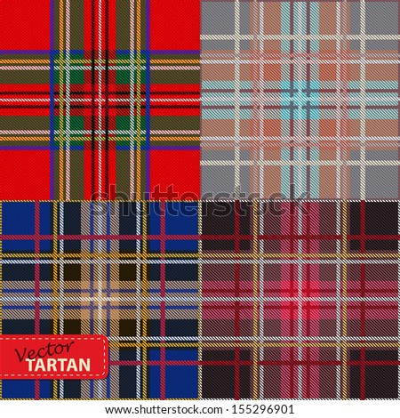 Set of seamless tartan pattern
