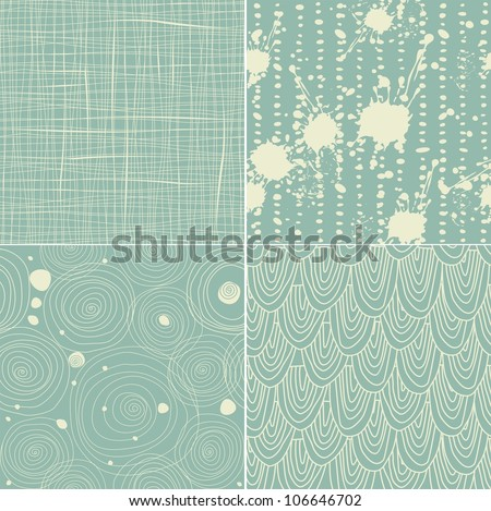 set of 4 seamless texture patterns