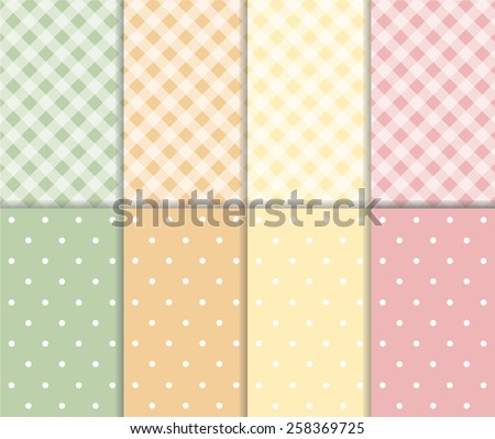 set of seamless vector pattern
