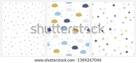 set of 3 seamless vector