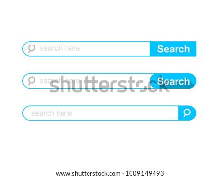 Set of Search bar ui template. Vector Illustration