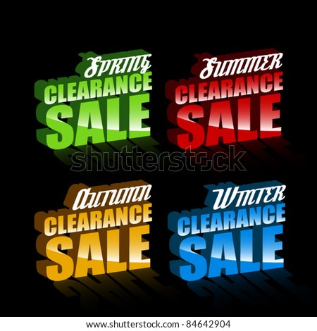 set of seasonal clearance sale collection