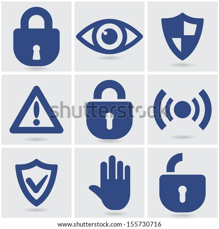 set of security icons. vector eps10
