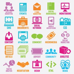 Set of seo and internet service icons - part 3 - vector icons