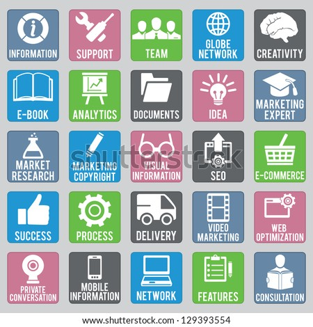 Set of seo icons - part 1 - vector icons