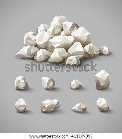 set of separate rocks and