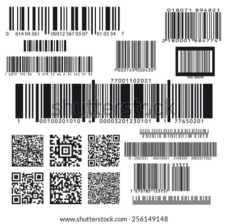 set of seventeen barcodes