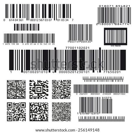 set of seventeen barcodes