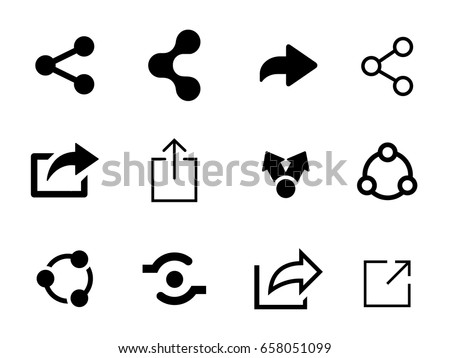 Set of Share icon Stockfoto ©