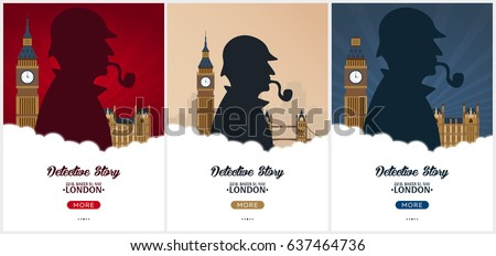 set of sherlock holmes posters