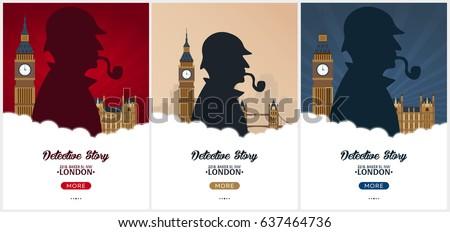 set of sherlock holmes posters