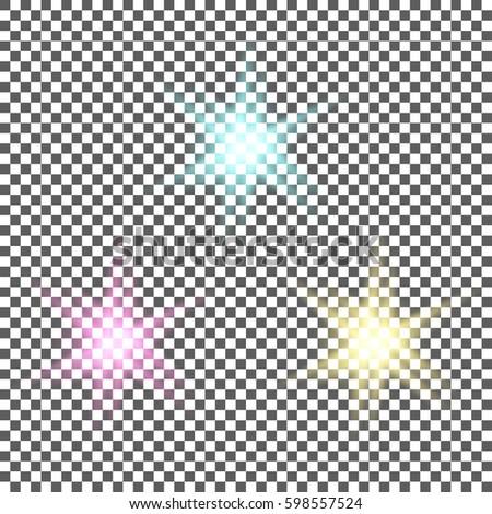 set of shiny light