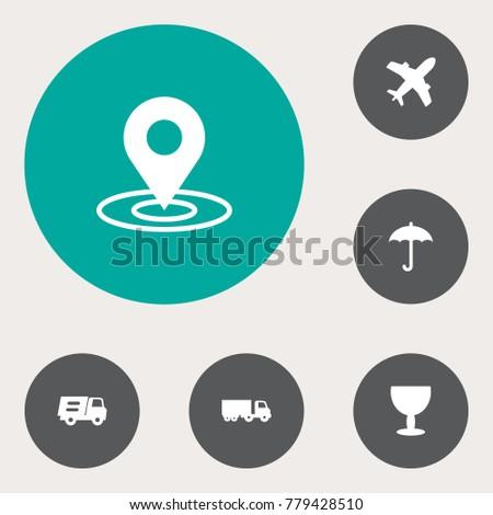 set of 6 shipping icons set