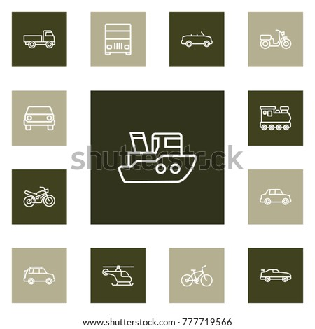 set of 13 shipping outline