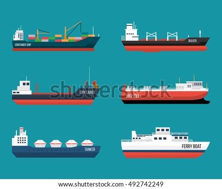 set of ships in modern flat