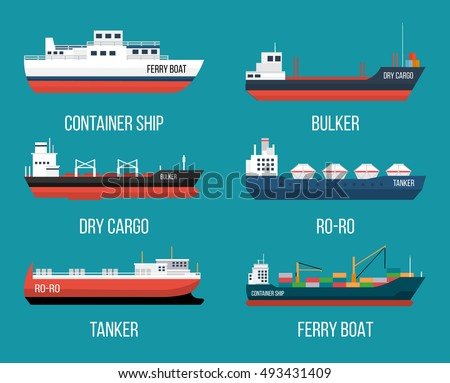 set of ships in modern flat