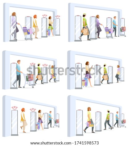 set of shoplifting situation
