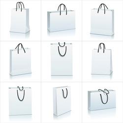 set of shopping bag