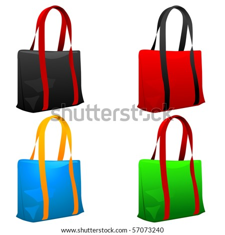 Set of shopping bags. Vector illustration.