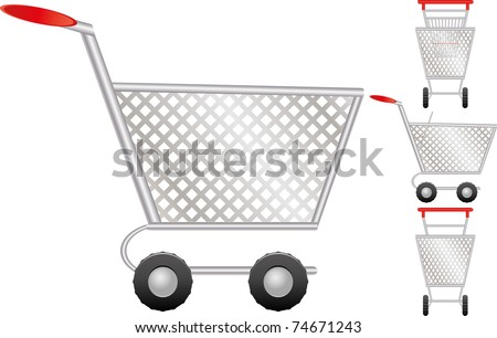 Set of shopping cart for on-line shop, icon for e-commerce, vector illustration