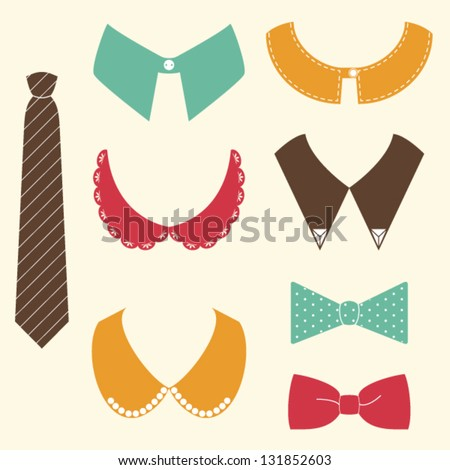 set of shopping fashion icons.vector illustration