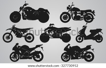 set of 7 side different bikes