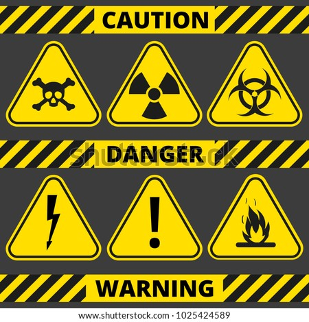 set of signs the radiation