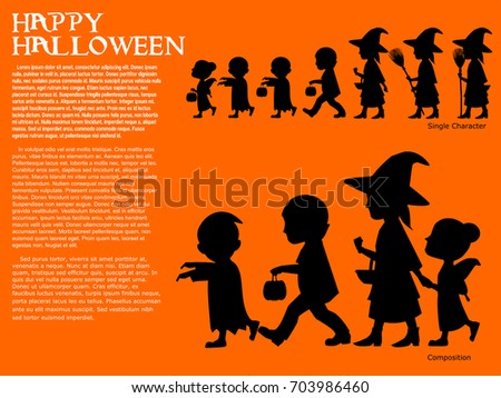 set of silhouette character for