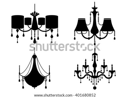 Modern Chandelier Flat Icons Vector - Download Free Vector Art ...