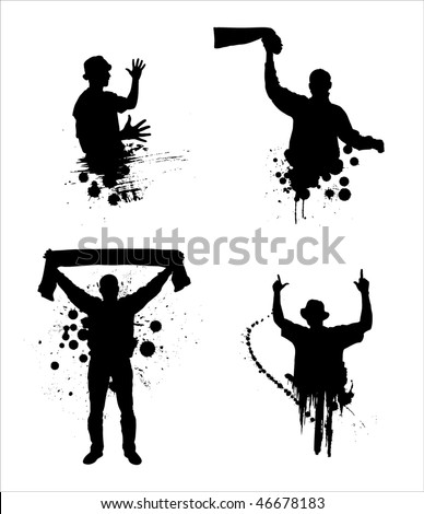 Set of silhouettes for sports