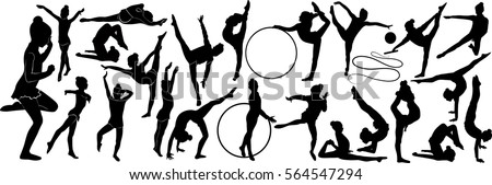 stock-vector-set-of-silhouettes-girl-gymnast-athlete-isolated-on-white-background