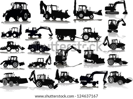 set of 21 silhouettes of a