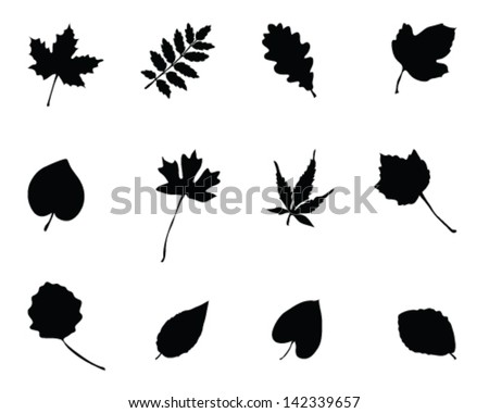 set of silhouettes of foliage 2