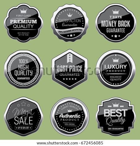 Set of silver badges