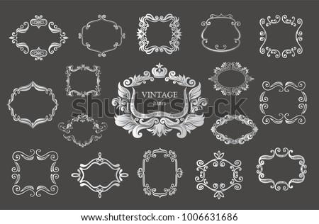 set of silver vintage floral...