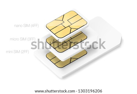 set of sim chips of different