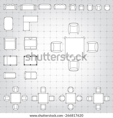 Royaltyfree Vector For Interior Design 48 Stock Photo Interesting Blueprint Interior Design Set