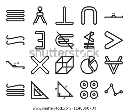Set Of 20 simple editable icons such as Is not an element of, Proportion, Trigonometry, square school tool, Neither less or exactly equal, web UI icon pack, pixel perfect