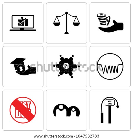 Set Of 9 simple editable icons such as next level, generic person, past due, induction, roundtable, scholarship, procurement, advocate, proven, can be used for mobile, web UI