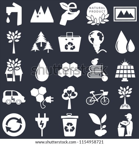 set of 25 simple editable icons