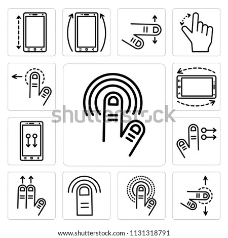 vector images illustrations and cliparts set of 13 With simple phone tap