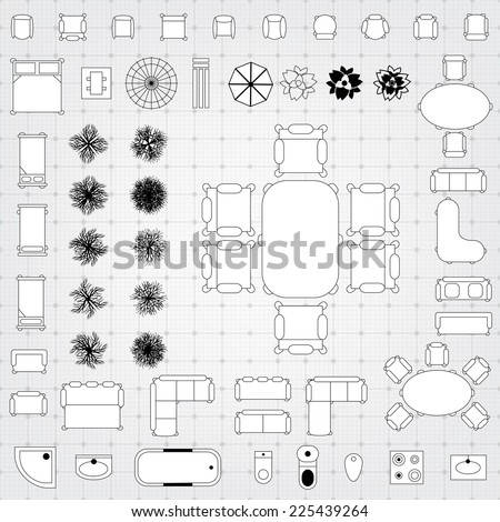 Shutterstock puzzlepix for Floor plan furniture store