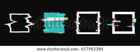 set of simple geometric square