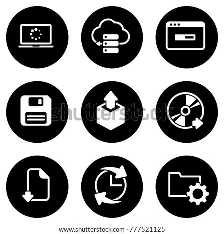 Set of simple icons on a theme Software, vector, design, collection, flat, sign, symbol,element, object, illustration, isolated. White background