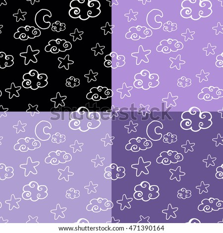 set of simple seamless pattern