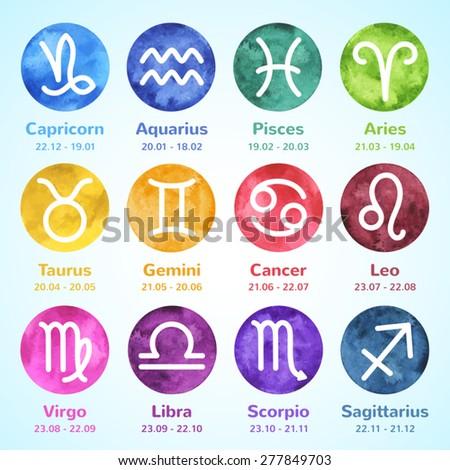 set of simple stroke zodiac