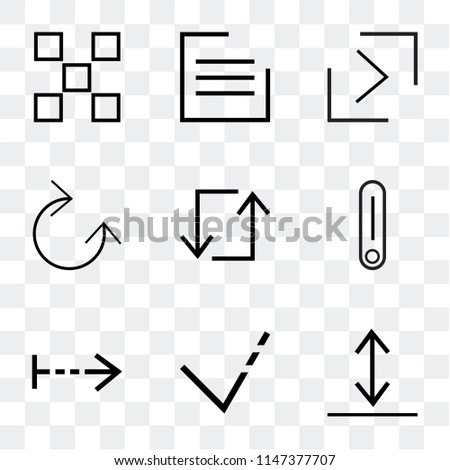 Set Of 9 simple transparent icons such as Download, arrow, Right Switch, Update, Clockwise, right button, menu, buttons, can be used for mobile, pixel perfect vector icon pack