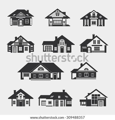 set of single storey houses