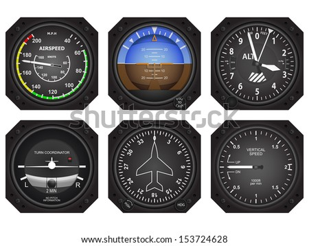 set of six aircraft avionics