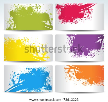 set of six background cards with coloirs